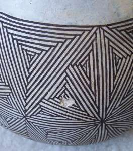 Antique Acoma NM Pottery Bowl by SW Indian Grace Chino