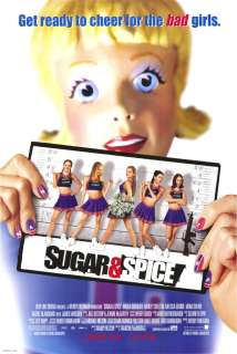 SUGAR AND SPICE MOVIE POSTER MENA SUVARI CHERRLEADERS !