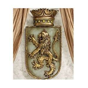 Shield Wall Sculptural D?cor Bravery Strength Symbol: Home & Kitchen