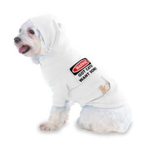 GOT CATS? WANT SOME? Hooded (Hoody) T Shirt with pocket for your Dog