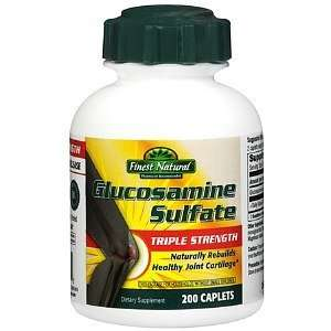 Finest Natural Glucosamine Sulfate Triple Strength Caplets