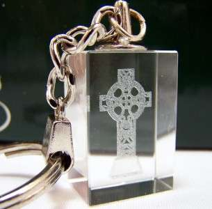 Irish Gift Celtic Cross Acrylic Keychain Keepsake WOW