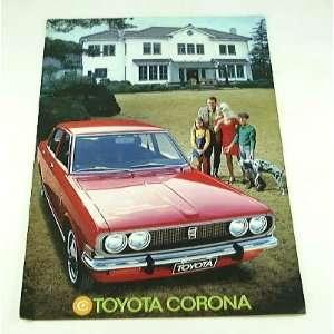 1971 71 Toyota CORONA BROCHURE 4 dr Sedan: Everything Else