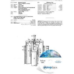 NEW Patent CD for HIGH PRESSURE LIFT DEVICE FOR POWER VEHICLES AND THE