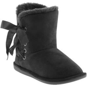 LADIES STEVE MADDEN MOUNTAIN FLEECE BOOTS BLACK 11