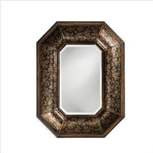 Howard Elliott 1955 Samford Wall Mirror in Brown with Bronze Accent