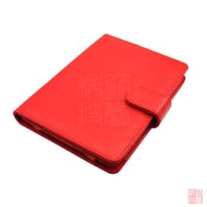 Leather Case Cover for  Kindle Touch 2011 Model, Red