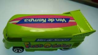 Hot Wheels VW Drag Bus Van de Kamps Fish o saurs loose