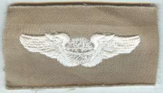Original WW 2 US Army Air Forces Navigator Wings 3 Cotton Embroidery