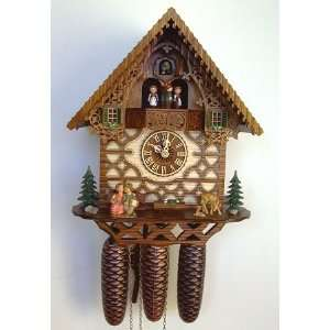 Animated Kissing Couple Cuckoo Clock, Model #8TMT 334/9