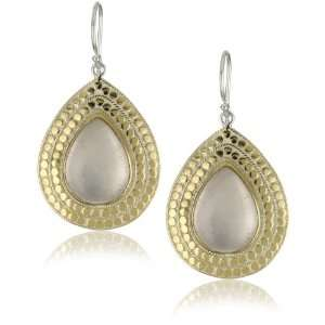 Anna Beck Designs Gili Large Rose Quartz Teardrop Earrings