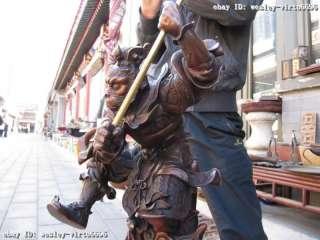 16Chinese Buddhism Folk red bronze SunWuKong Monkey King Monkey God