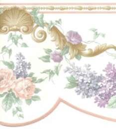 VICTORIAN DIE CUT PURPLE & PINK Wallpaper bordeR Wall
