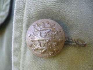 Vintage Military FIELD JACKET Olive Drab Sateen COAT L