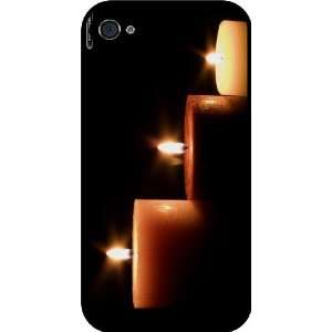Candles Design Rubber Black iphone Case (with bumper) Cover for Apple