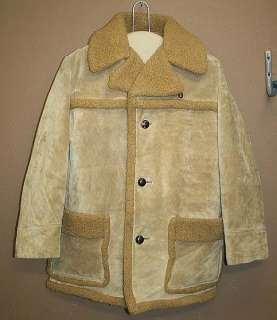 MENS LEATHER RANCH/WESTERN SHEEPSKIN VINTAGE COAT 40