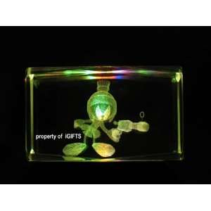 Marvin The Martian 3D Laser Etched Crystal SD H