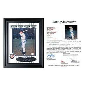 Joe DiMaggio Autographed / Signed Framed Posing with Bat