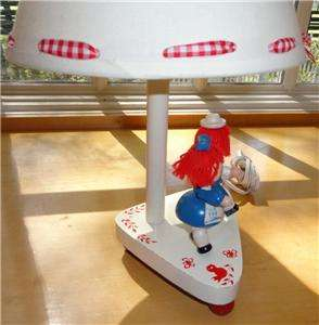 Vtg~Irmi/Young Designs~Raggedy Ann & Andy~Wood~Wooden~Nursery~Baby