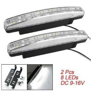 Amico Car Auto White 8 LED DRL Daytime Running Driving