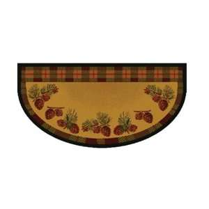 11002 Pine Cones Lodge Half Round Rug   Pine Cones Home & Kitchen