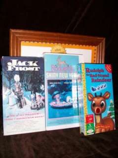 RANKIN BASS CLASSIC VHS JACK FROST RUDOLPH RED NOSED REINDEER SHINY