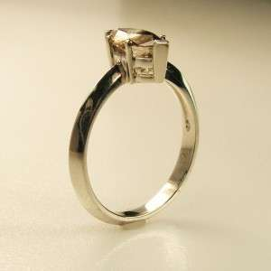 SI2 CHAMPAGNE COLOR MARQUISE DIAMOND RING 14K SOLID WHITE GOLD