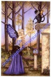 Amy Brown Print The Locket Fairy Flying Monkey Wings