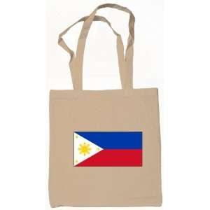 Philippine Flag Tote Bag Natural