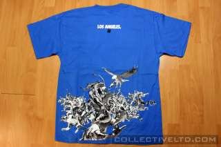 Undefeated Undftd Los Angeles Mural Tee Shirt BLUE L