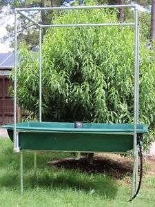 Aquaponics Grow Bed w/ Trellis stand   3x6x1