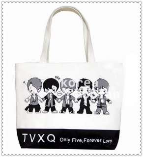 TVXQ DBSK Tohoshinki Only five Forever love KPOP CARTOON CANVAS BAG