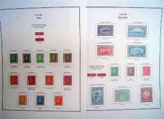 Canada 85 210 Color Stamp Album Pages (Free Shipping)
