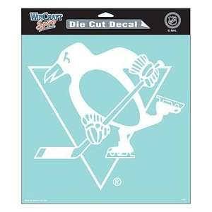 Pittsburgh Penguins 8x8 White Die Cut Decal Sports