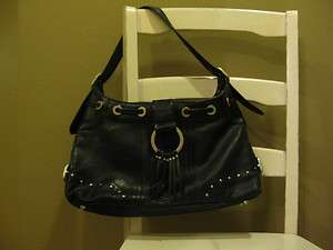 Stylish Large Black Flap Satchel Purse Leather Hand Bag