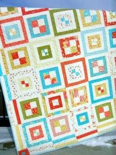 This quilt pattern works with just about any type of fabric. This size