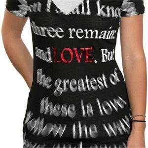 Truth Soul Armor Womens Greatest Love T Shirt   Large