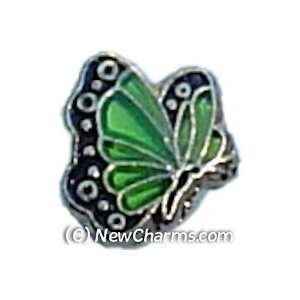 Butterfly Birthstone August Floating Locket Charm Jewelry