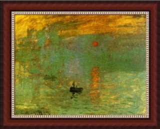 Framed Sun Rise Claude Monet Impression Landscape Art