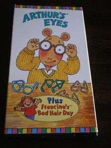 ARTHUR Arthurs Eyes VIDEO Francine TV VHS Aardvark KID