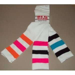 Pairs Womens/Girls Neon Color Knee High Tube Socks