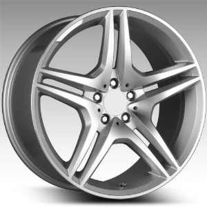 19x9.5 Mercedes Benz C E Class Wheels Rims Hyper Silver Mach Face