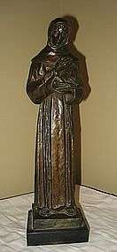 St Francis Assisi Bronze sculpture Frederick Shrady