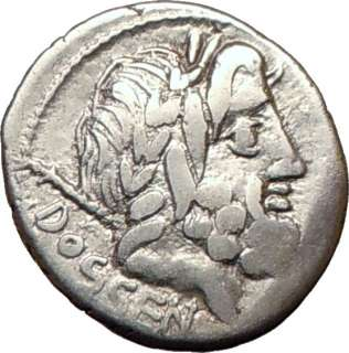 Roman Republic L. Rubrius Dossenus Coin JUPITER & CHARIOT 87BC Silver