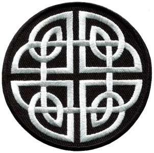 Celtic knot Irish goth biker tattoo wicca magic applique iron on patch