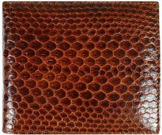 NEW LUXURY Mens Genuine Snake skin / leather tri fold wallet USSN14