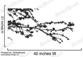 Vinyl Wall Decal Sticker Corner Tree Floral Branches