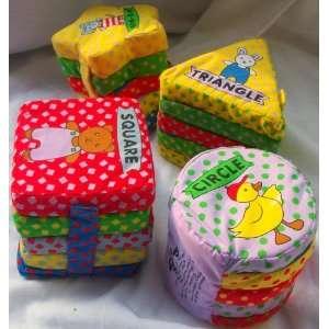 Basic Shapes Soft Foam Plush Baby Learning Blocks Toys