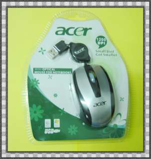 Optical Retractable Travel USB Mouse Mice For Laptop Black Sliver