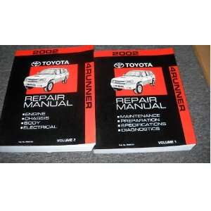 2002 Toyota 4Runner Service Repair Shop Manual Set OEM (2